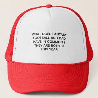 le football d'imaginaire et casquette de papa