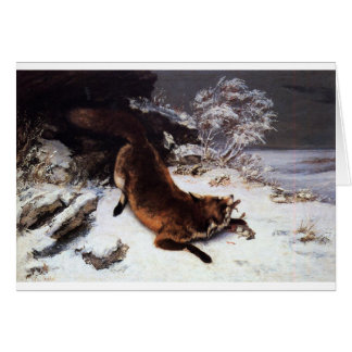 Le Fox dans la neige par Gustave Courbet Carte