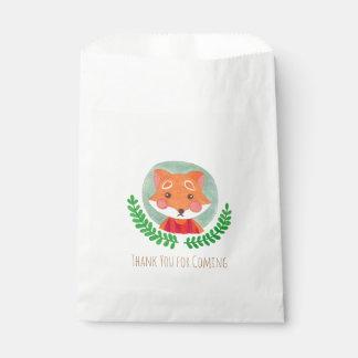 Le Fox mignon Sachets En Papier