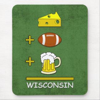 Le fromage plus le football plus la bière est le tapis de souris