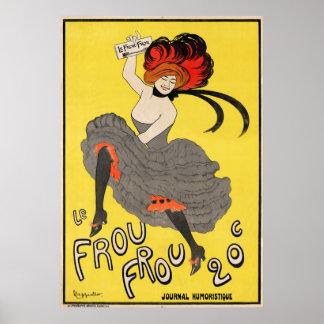 Le Frou Frou 20', journal Humoristique Poster