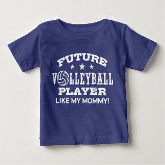 Le futur joueur de volleyball aiment ma maman t-shirt pour bébé