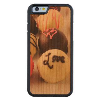 Le gâteau mord l'amour coque iPhone 6 bumper en cerisier