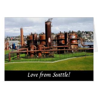 Le gaz fonctionne la carte de voeux de Seattle de