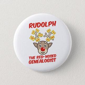 Le généalogiste au nez rouge badge rond 5 cm