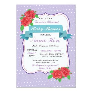 Le genre de baby shower indiquent les invitations