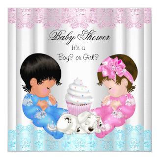 Le genre mignon de baby shower indiquent des carton d'invitation  13,33 cm