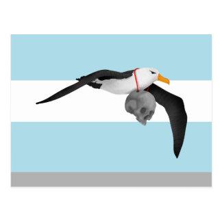 Le givre du marin antique remélangent l'albatros carte postale