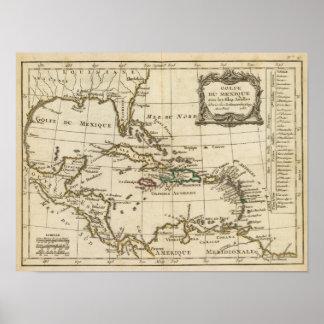Le Golfe du Mexique, îles des Caraïbes