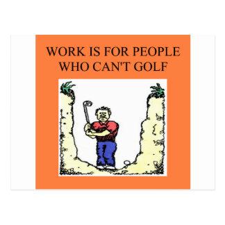 le golfeur cartes postales