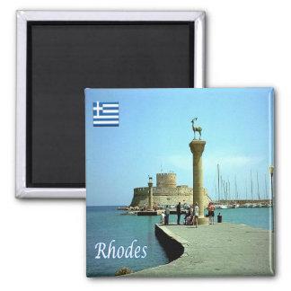 Le GR - La Grèce - la Rhodes Magnet Carré
