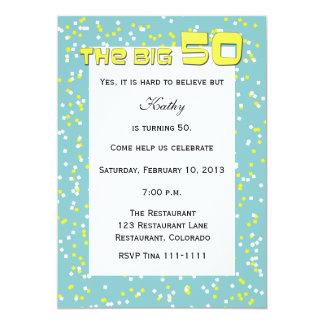 """""""Le GRAND 50"""" cinquantième invitation"""