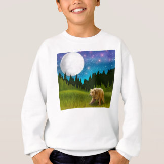 Le grand ours gris de ciel badine le sweatshirt