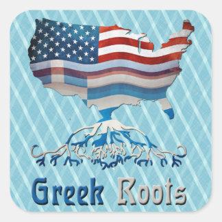 Le Grec américain enracine des autocollants