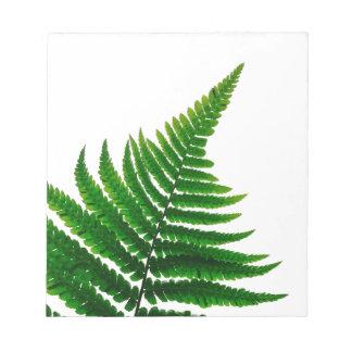 Le Green Fern imprime Woodlands Leaf Bloc-note