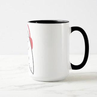 Le hibou de grange enregistre la tasse de café