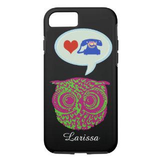 le hibou et le téléphone cellulaire coque iPhone 7