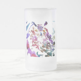 '' Le hibou '' Frosted Glass Beer Mug