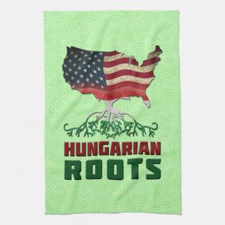 Le Hongrois américain enracine la serviette de thé