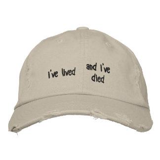 """le """"ive a vécu et l'ive est mort"""" casquette"""