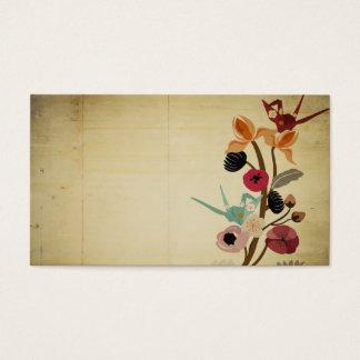 Le Japonais vintage fleurit le carte de visite