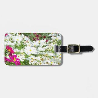 Le jardin floral de fleurs fleurit photographie étiquettes bagages