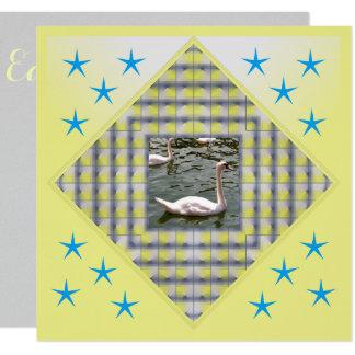 Le jaune de Pâques a annoncé l'invitation Carton D'invitation 13,33 Cm