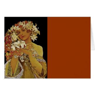 Le jaune fleurit 1897 carte de vœux