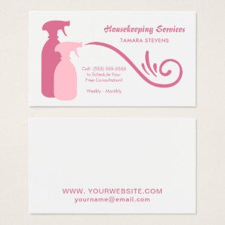 Le jet rose chic met des services en bouteille de cartes de visite