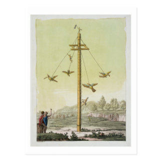 Le jeu de vol, de 'Le Costume Ancien et moderne Cartes Postales