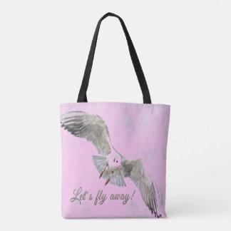 """Le joli rose d'oiseau """"nous a laissés piloter le sac"""