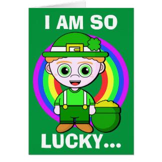 Le jour chanceux de Patrick de saint Carte De Vœux