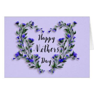 Le jour de mère - coeur assez floral carte