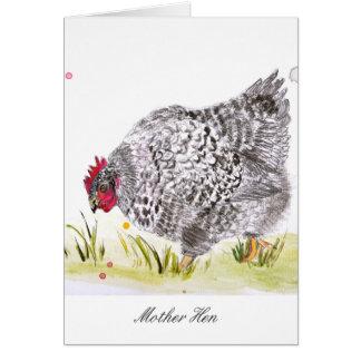 Le jour de mère de carte de voeux de poulet de