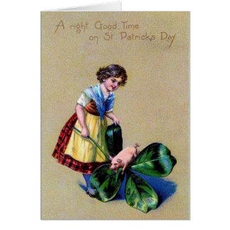 Le jour de Patrick de saint Carte De Vœux