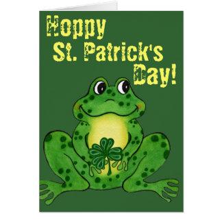 Le jour de St Patrick de houblon - carte de houblo