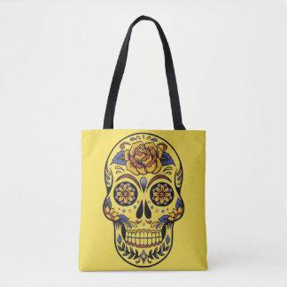 Le jour des morts a peint le sac de RoseTote de