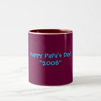 """Le jour du papa heureux ! """"2008"""" tasses"""