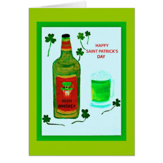 Le jour heureux de Patrick de saint, leprachaun, Carte De Vœux