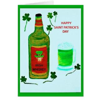 Le jour heureux de Patrick de saint, leprachaun, s Carte De Vœux