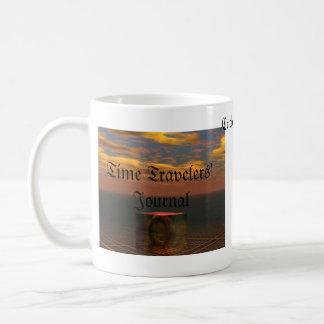 Le journal des voyageurs de temps par le cricketdi mug à café