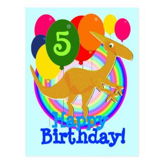Le joyeux anniversaire colore la carte postale de