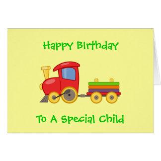 Le joyeux anniversaire de jouet des enfants carte de vœux