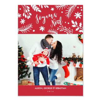 Le Joyeux Noël s'embranche carte photo de vacances Carton D'invitation 12,7 Cm X 17,78 Cm