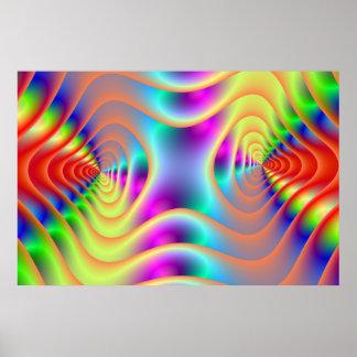 Le jumeau psychédélique se développe en spirales poster