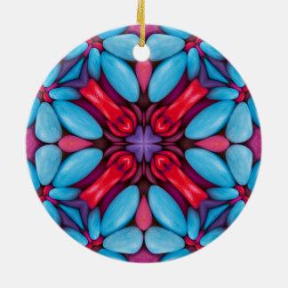Le kaléidoscope de sucrerie d'oeil ornemente 6 ornement rond en céramique
