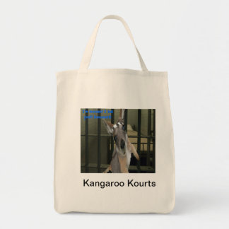 Le kangourou de bébé veut hors de la prison sac en toile épicerie