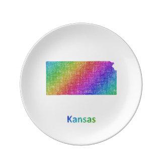Le Kansas Assiette En Porcelaine