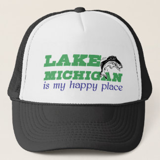 Le lac Michigan est mon endroit heureux Casquette