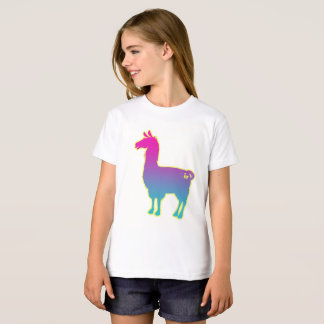 Le lama tropical rose badine le T-shirt